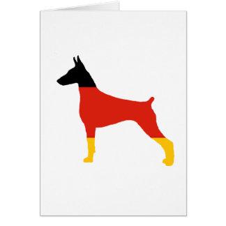 doberman pinscher germany-flag silhouette card