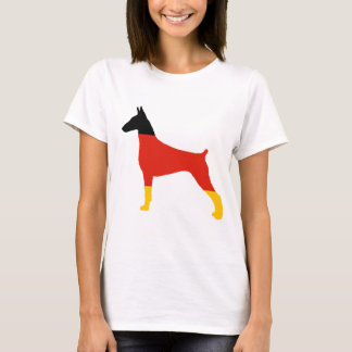 doberman pinscher germany-flag silhouette T-Shirt