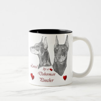 Doberman Pinscher Gifts Two-Tone Coffee Mug