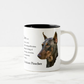 Doberman Pinscher Gifts Two-Tone Coffee Mug