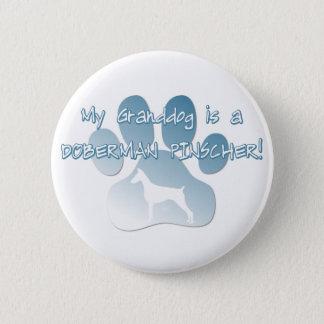 Doberman Pinscher Granddog Button