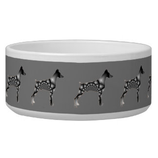 Doberman Pinscher Grey Dog Bowl