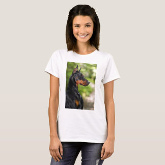 Doberman Pinscher Head Profile T-Shirt