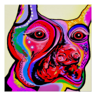 Doberman Pinscher in Bright Colors Poster