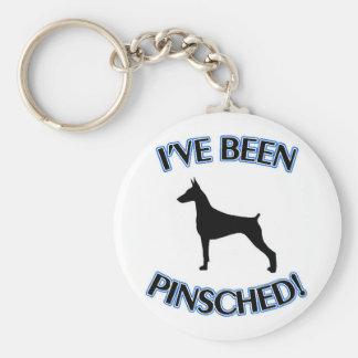 """DOBERMAN PINSCHER """"I'VE BEEN PINSCHED!"""" KEYCHAIN"""