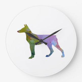 Doberman Pinscher Large Clock
