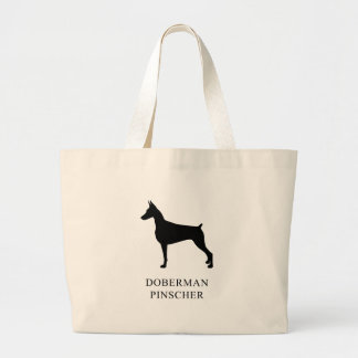 Doberman Pinscher Large Tote Bag