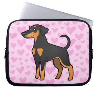 Doberman Pinscher Love (floppy ears) Laptop Sleeve