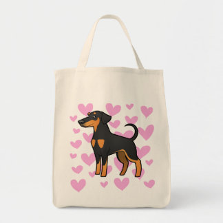 Doberman Pinscher Love (floppy ears) Tote Bag