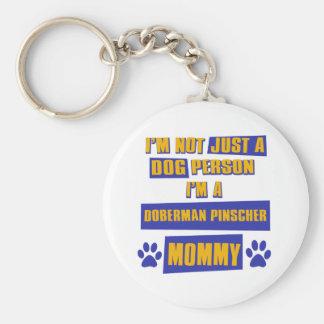 Doberman Pinscher Mommy Keychain