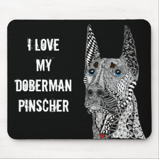 Doberman Pinscher Mousepad (Customizable)