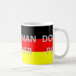 doberman pinscher name on germany-flag coffee mug