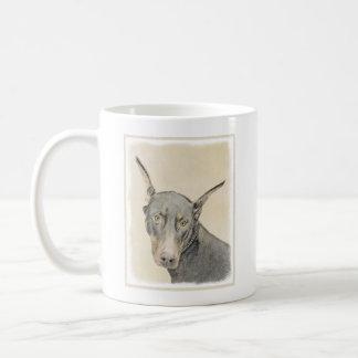 Doberman Pinscher Painting - Original Dog Art Coffee Mug