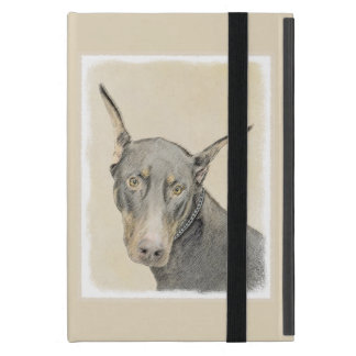Doberman Pinscher Painting - Original Dog Art Cover For iPad Mini