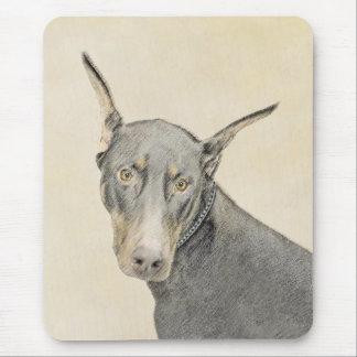 Doberman Pinscher Painting - Original Dog Art Mouse Pad