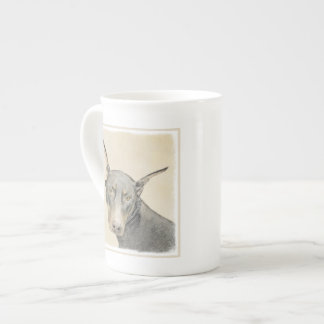 Doberman Pinscher Painting - Original Dog Art Tea Cup