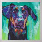Doberman Pinscher Pop Dog Art poster