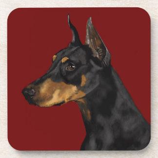 Doberman Pinscher Portrait, Art Print, Doberman Ar Coaster