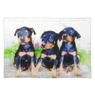 Doberman Pinscher puppies Placemat
