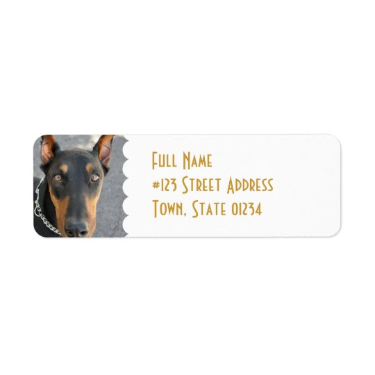 Doberman Pinscher Return Address Label