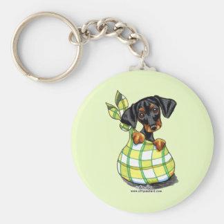 Doberman Pinscher Sack Puppy Keychain