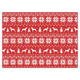 Doberman Pinscher Silhouettes Christmas Pattern Tissue Paper