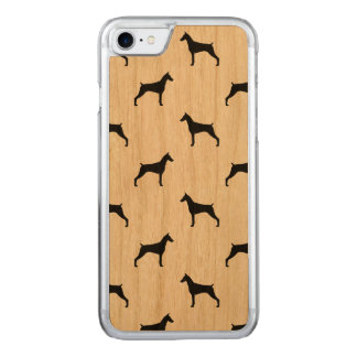 Doberman Pinscher Silhouettes Pattern Carved iPhone 8/7 Case
