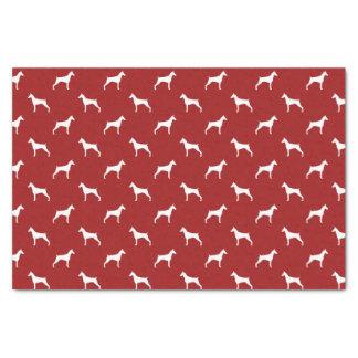Doberman Pinscher Silhouettes Pattern Red Tissue Paper