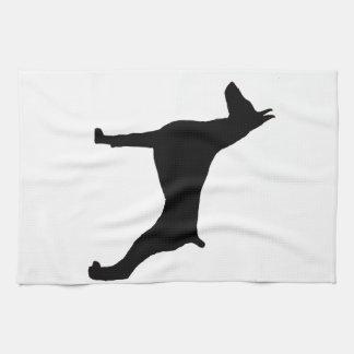 doberman pinscher silo black.png kitchen towel