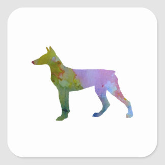 Doberman Pinscher Square Sticker