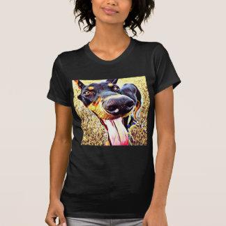 Doberman Pinscher Swirl Paint 1 T-Shirt