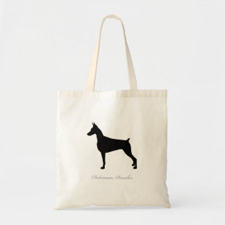 Doberman Pinscher Tote Bag (black silhouette)