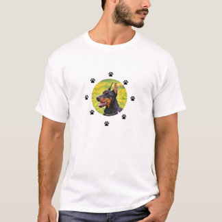 Doberman pinscher with Baseballs T-Shirt