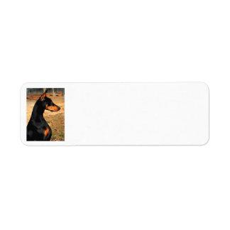 Doberman Profile Address Label (v 9-3)