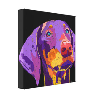 Doberman puppy art canvas print