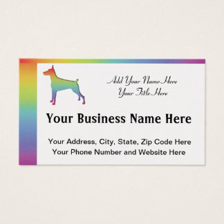 Doberman Rainbow gifts Business Card