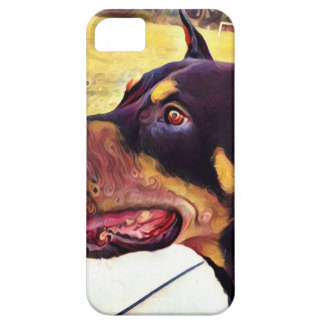 Doberman Swirl Paint 2 Case For The iPhone 5