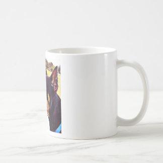 Doberman Swirl Paint 2 Coffee Mug