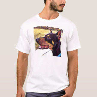 Doberman Swirl Paint 2 T-Shirt