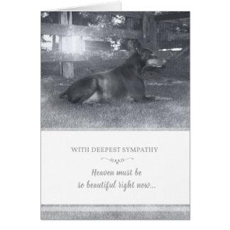 Doberman Sympathy Card - Heaven Must be Beautiful