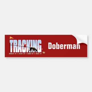 Doberman Tracking Bumper Sticker