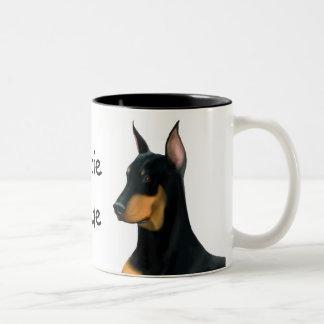 Dobie Dude Doberman Pinscher Dog Mug