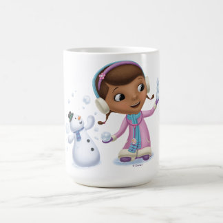 Doc McStuffins   Doc And Chilly Playing In  Snow Coffee Mug