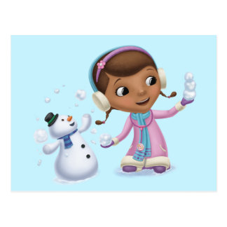 Doc McStuffins | Doc And Chilly Playing In  Snow Postcard
