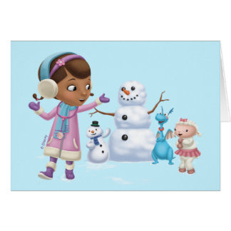 Doc McStuffins | Doc McStuffins Playing In Snow Card