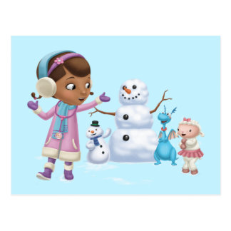 Doc McStuffins | Doc McStuffins Playing In Snow Postcard