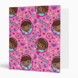 Doc McStuffins | I Care Pink Pattern 3 Ring Binder