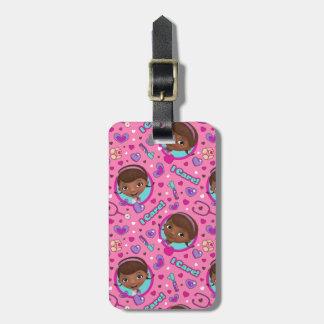 Doc McStuffins | I Care Pink Pattern Luggage Tag