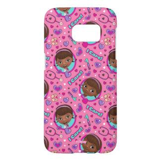 Doc McStuffins | I Care Pink Pattern Samsung Galaxy S7 Case