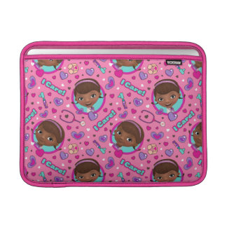 Doc McStuffins | I Care Pink Pattern Sleeve For MacBook Air